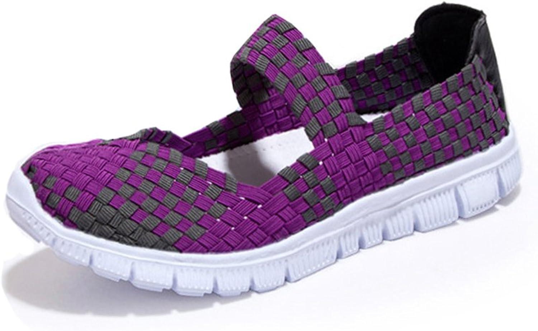 IRuis Women's Brighten Fabric Loafer Flats Casual Wedge Sandal