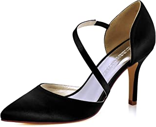 ElegantPark Women High Heel Strappy Dress Pumps Pointy...