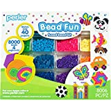 Perler Activity Kit and Storage Trays, 8000 Beads + pegboards, 8006 pcs