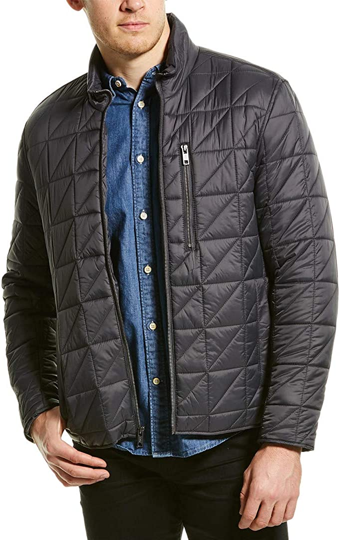 SEAL Challenge the lowest price of Japan limited product MARC NEW YORK Mens Gray Coat L Zip Up