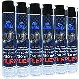 AABCOOLING Compressed Gas Duster FLEX 750ml - Conjunto de 6 - Espray Aire Comprimido con un Tubo Flexible, Spray Limpiador, Duster de Aire Comprimido, Spray Aire