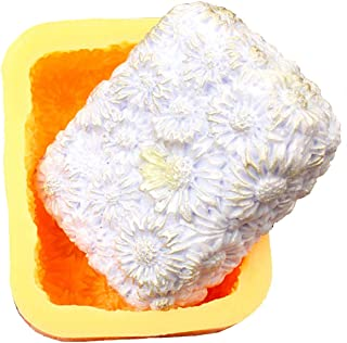 Silicone Soap Molds Daisy Flower Soapmaking - Flower Shape Lotion Bar Bath Bomb Soap Making Mold DIY Craft