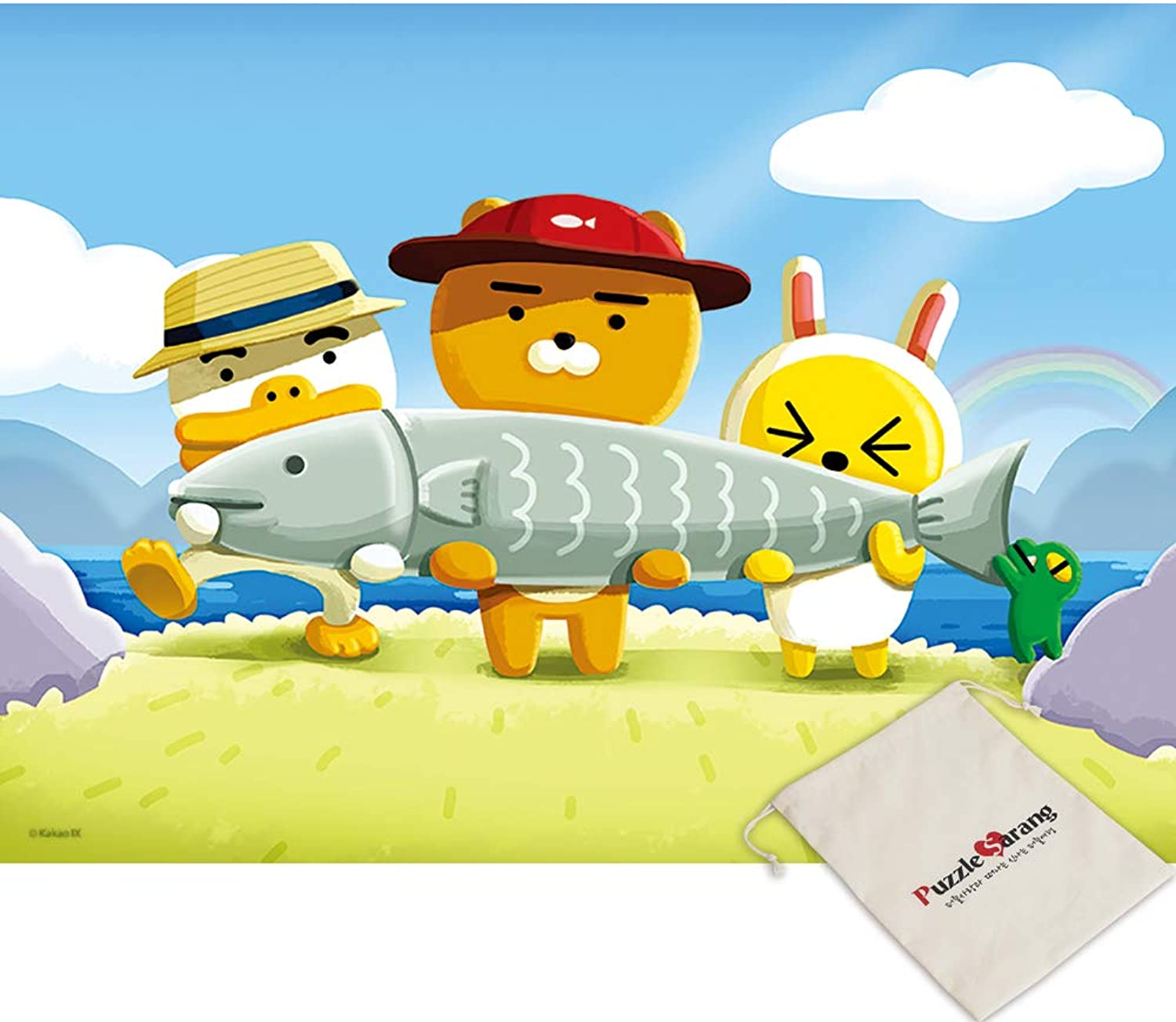 Yearimi, City Fisherman, Kakao Friends - 800 Small Size Piece Jigsaw Puzzle [Pouch Included]