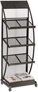 Home Bookshelf Bookcase Shelf Wrought Iron Bookshelf 4-layer Floor Standing Bookcase Home Office Simple Storage Shelf Disp...