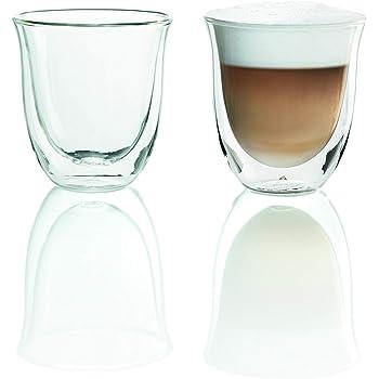 DeLonghi Double Walled Thermo Cappuccino Glasses, 6 fl oz, Set of 2 [並行輸入品]