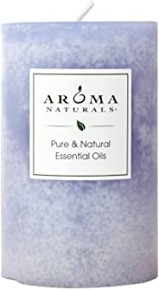 Aroma Naturals Soy Aromatherapy Scented Pillar Candle, Tranquility, Lavender, 2.5 inch x 4 inch