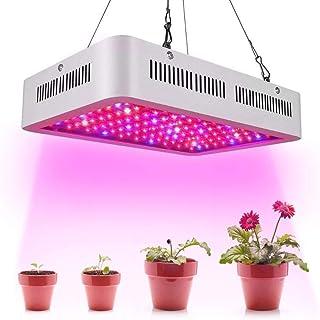 Calistouk 600W/1000W LED Grow Light Full Spectrum para Plantas de Invernadero hidropónicas de Interior Veg and Bloom 60pcs 10W LED (600W)