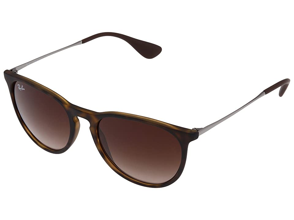 Ray-Ban Erika (Rubberized Havana) Plastic Frame Fashion Sunglasses