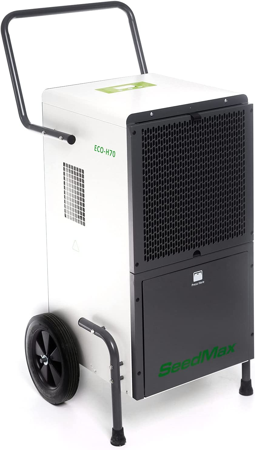 SeedMax ECO-H70 138 Pints Mobile f Commercial Free Shipping New Dehumidifier Store Steel