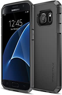 Galaxy S7 Case, Trianium [Protak Series] Ultra Protective Cover Case for Samsung Galaxy S7 [Black] Dual Layer + Shock-Absorbing Bumper Hard Case