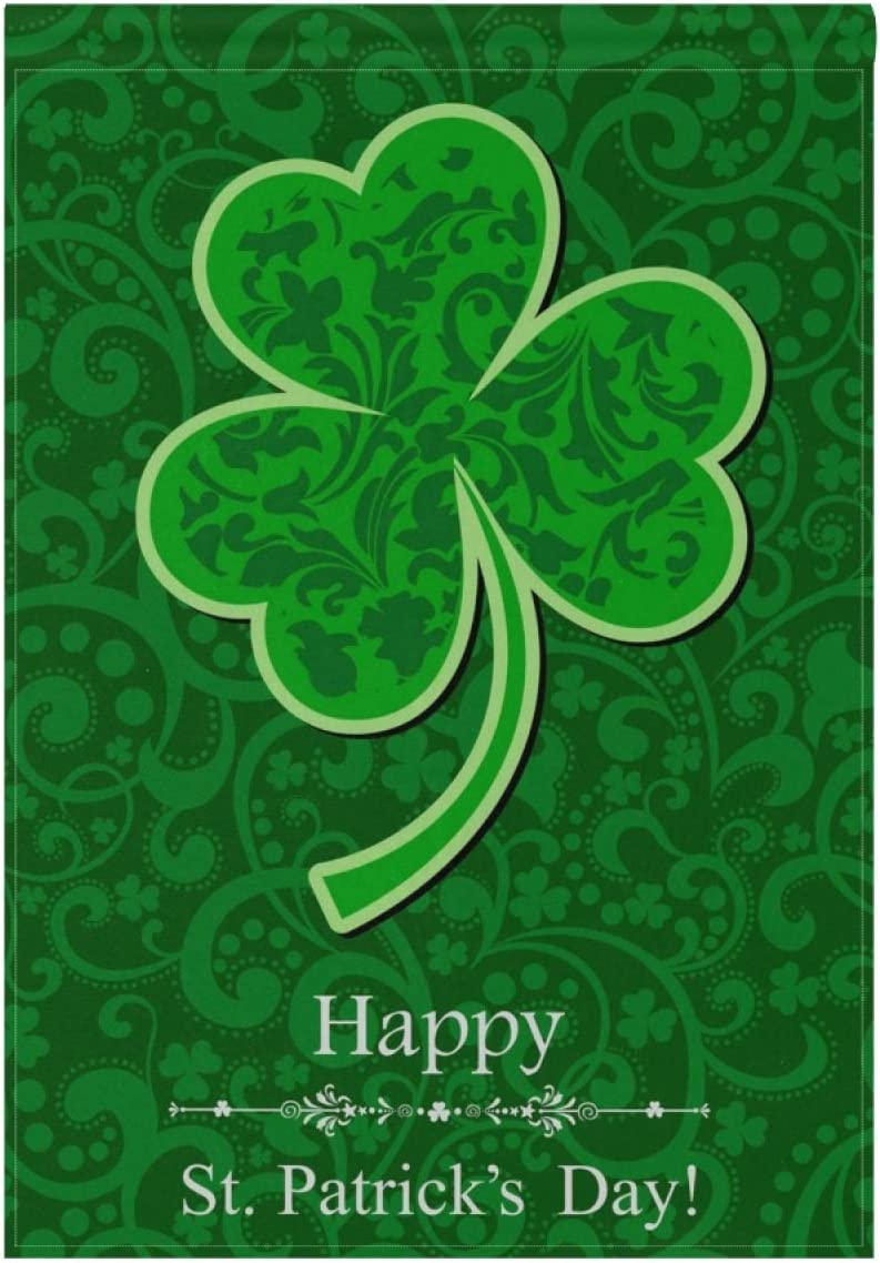 SUABO Patrick Day Garden Flag Inches St.Patrick's Cash special price Spasm price Clover 28x40 D