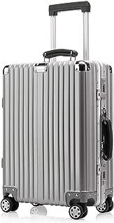 Kroeus Carry Case Suitcase Luggage TSA Lock Travel Business Trip 29 Inch Silver