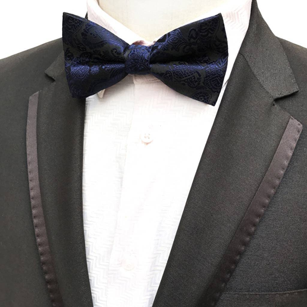 XJJZS Men's Bow Limited time trial price Tie Gold Bowtie Wedding Dot Blu Bowknot Business All items free shipping