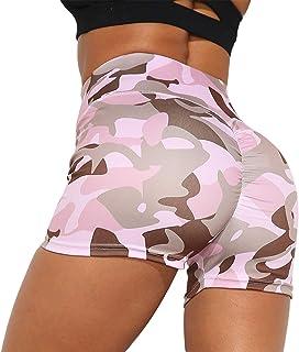 niyokki Biker Shorts for Women High Waist, Camouflage Booty Shorts Butt Lifting Yoga Shorts for Summer Workout