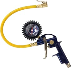 """Tire Inflator, 3-in-1 Inflation Gun, with Gun, Locking Chuck and 2-inch Gauge, ¼"""" NPT and Flexible Hose (Campbell Hausfeld MP600000AV)"""