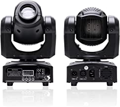 U`King LED Moving Head Light Spot 4 Color Gobos Light 25W DMX with Show KT V Disco DJ Party for Stage Lighting