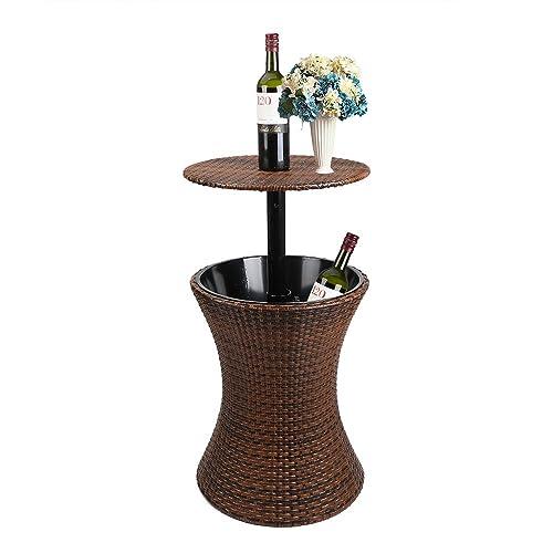 Sensational Brown Garden Table Amazon Co Uk Download Free Architecture Designs Aeocymadebymaigaardcom