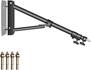 Neewer Triangle Wall Mounting Boom Arm for Photography Studio Video Strobe Lights Monolights Softboxes Umbrellas Reflectors,180 Degree Flexible Rotation,Max Length 70.8 inches/180 centimeters (Black)