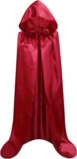 Adult Full Length Hooded Cape Christmas Costume Cloak Halloween Party Cape