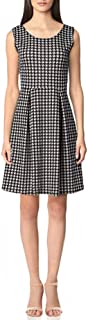 Star Vixen womens Petite Classic Str Ponte Knit Slvlss Box-Plt FitnFlare Dress Dress