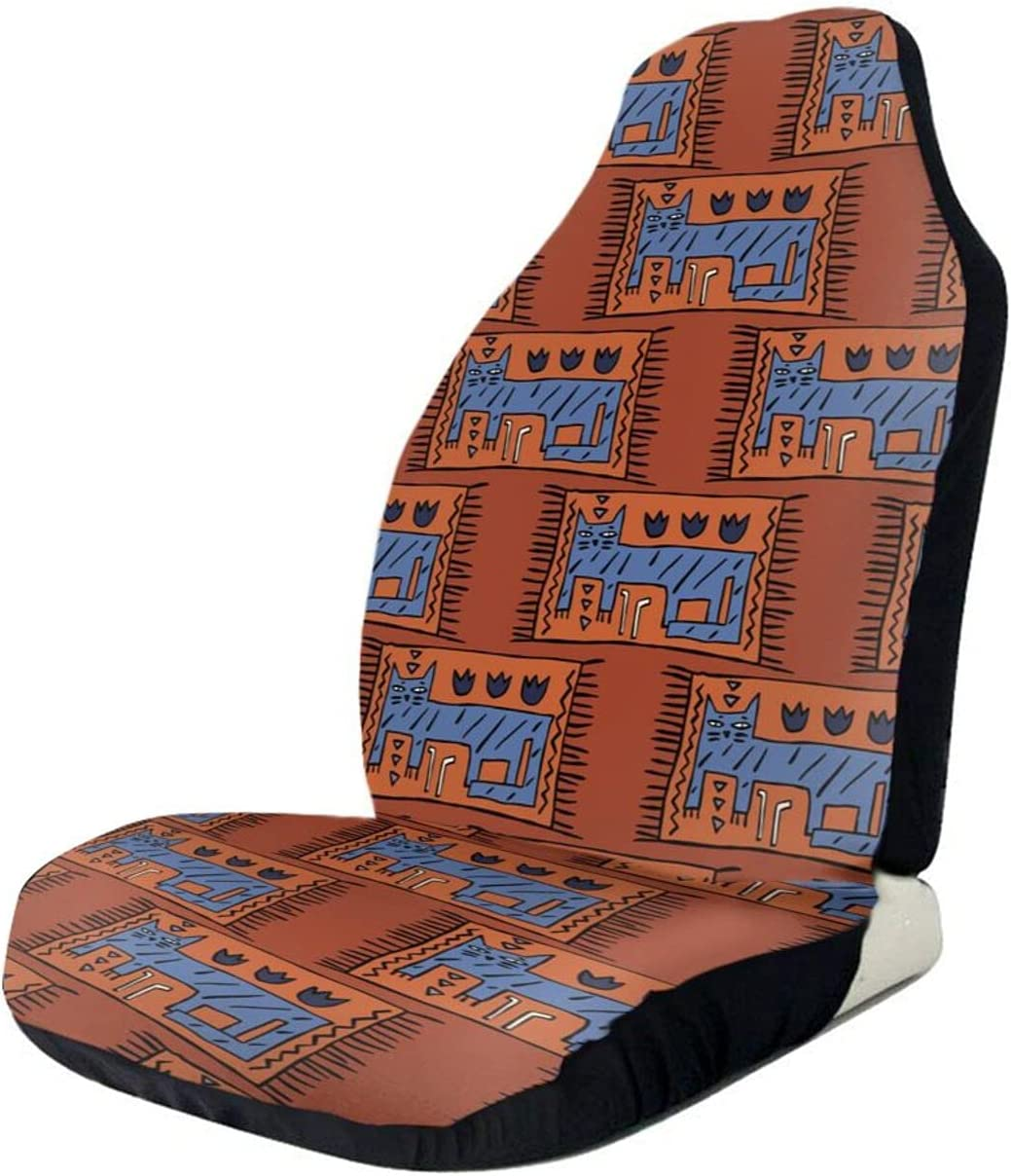 Cat Pattern Max 42% OFF Carpet Car Seat Polyester Horn Reindeer Fabri Max 74% OFF Covers