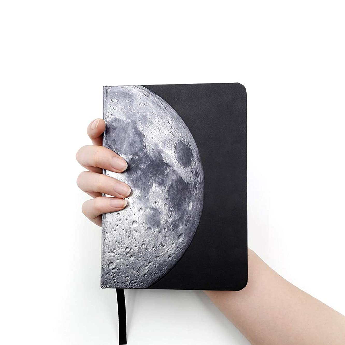 AstroReality LUNAR AR Notebook | Embossed Hardcover, Writing Journal, Wire Bound Notepad, Travel Diary | Augmented Reality Enabled | 5x7 Inches, 176 Pages | Space Gift for All Ages