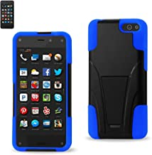 Reiko Silicon Case with Protector Cover for Amazon Fire Phone - Retail Packaging - Navy Black