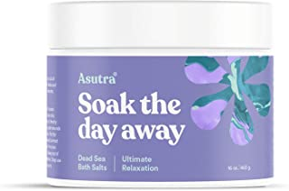 ASUTRA Dead Sea Bath Salts (Ultimate Relaxation), 16 oz | Melt Tension Away | Soak in Rich & Vital Healing Minerals | All ...