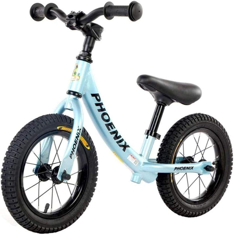 Balance Bike Für Mdchen 2-3-6 Jahre Alt Kinder Balance Auto Kein Pedal Fahrrad Roller Baby Kind Spielzeug Rutsche Auto,Blau