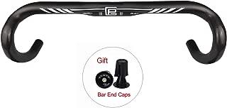 Platt Road Handlebar Full Carbon Fiber Road Bicycle Handlebar 31.8mm Drop Bar Bent Handlebar 400/420/440mm