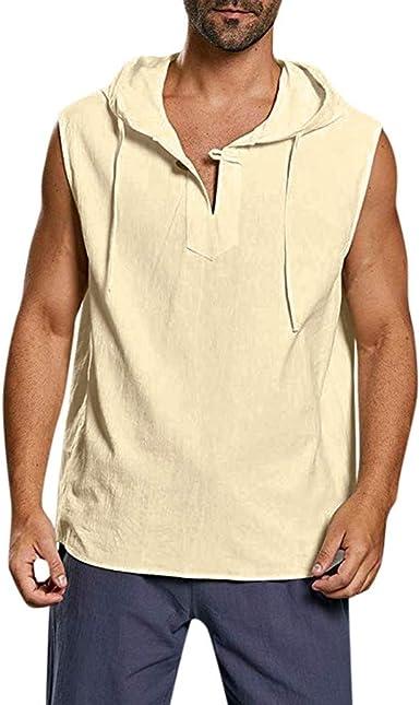 Sylar Camisetas Sin Mangas Hombre Camisetas Hombre Tirantes Chaleco con Capucha Camisetas Hombre Verano Color Sólido Moda Camisetas Top Deportivas ...