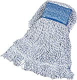 AmazonBasics Loop-End Rayon Finish Commercial String Mop Head, 5 Inch Headband,...