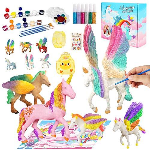 Kits de Pintura de Unicornio para Niños Pintar Juego, Niños Unicornio Artes y Manualidades Creativo Juguete Cumpleaños Navidad Unicornio Regalo para