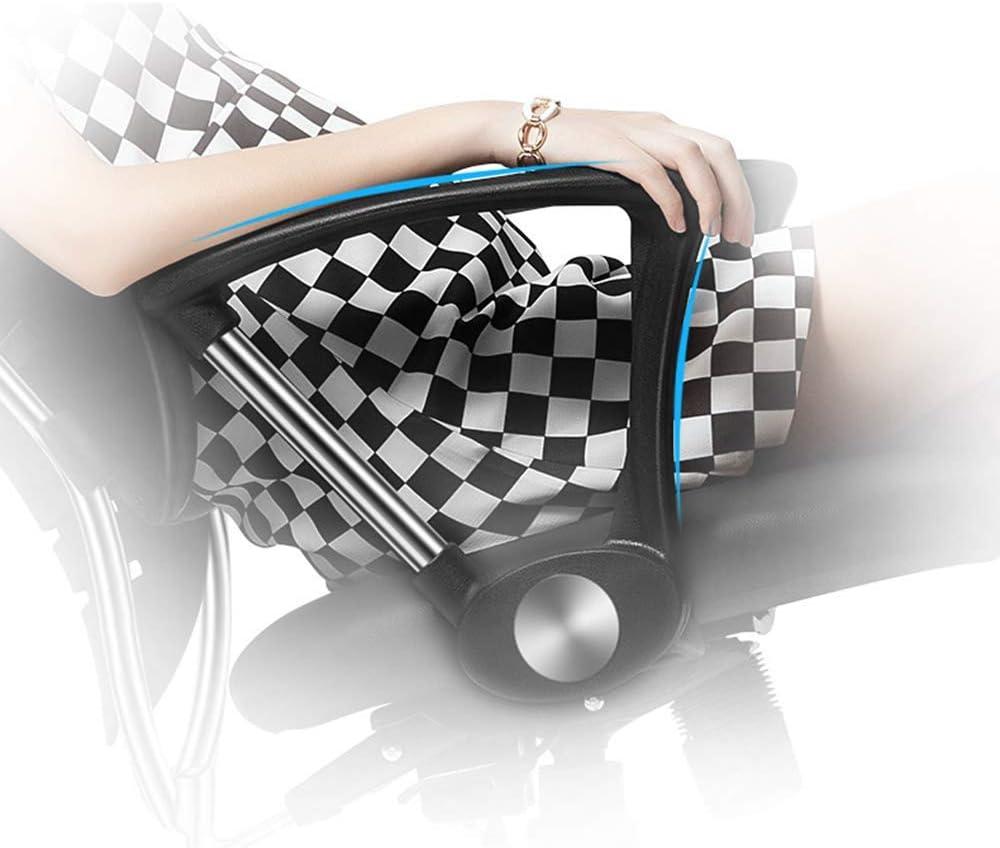 TYJIAJU Chaise d'ordinateur Brisk Tabouret Tabouret, conforme à l'ergonomie, pivotante à 360 degrés, repose-pied-accoudoir en acier k/Noir Orage