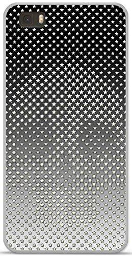 Onozo Carcasa TPU Gel Flexible Huawei Ascend P8Lite diseño de Calavera con Estrellas Blancas Fondo Degrade