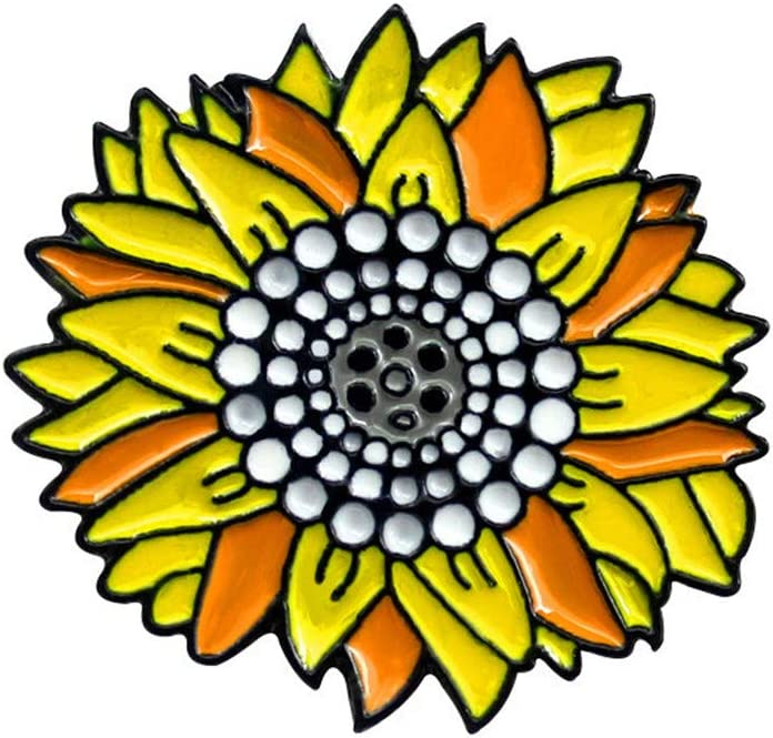 Beiswe Sunflower Brooch Pin Cute Yellow Sunflower Metal Enamel Backpack Bag Jeans Badge Brooch for Women Jewelry Accessory