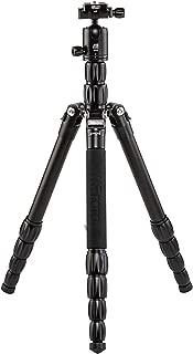 "MeFOTO Roadtrip S Lightweight 59.4"" Aluminum Travel Tripod/Monopod w/Case, Twist Locks, Dual-Action Ballhead w/Arca Swiss Plate for Mirrorless/DSLR Sony Nikon Canon Fuji - Black (RTSABLK)"