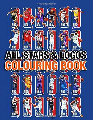 NBA All Stars and Logos Colouring Book: 30 NBA all stars and 30 logos of all teams