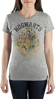 Hogwarts Crest Motto Draco Dormiens Nunquam Titillandus Women's Gray T-Shirt Tee Shirt Gift