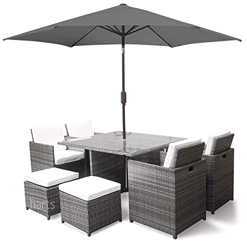 Sensational Black Rattan Cube Garden Furniture Amazon Co Uk Download Free Architecture Designs Jebrpmadebymaigaardcom