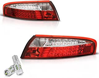 VIPMOTOZ For 1999-2004 Porsche 996-Series 911 Carrera Red Lens LED Tail Brake Light Housing Lamp Assembly - CREE LED Reverse Bulbs Included, Driver & Passenger Side Replacement Pair