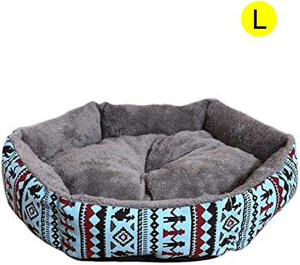 Killypo Cama de Perros Y Gatos Cómodo Interior Mascotas Nido Desmontable Y Lavable Redondo Amortiguador de la Perrera