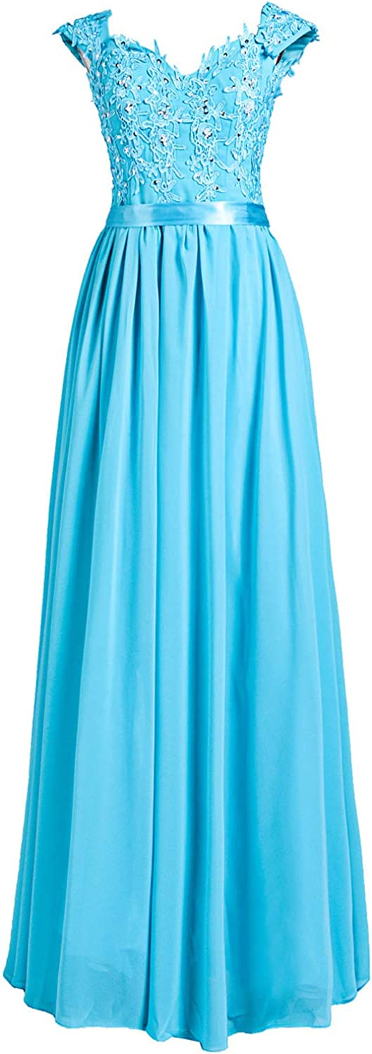 Clearbridal Women's Long Beaded Bridesmaid Chiffon Limited time Los Angeles Mall cheap sale Dresses Prom