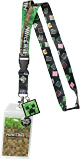 Minecraft Multi-Character ID Badge Holder Lanyard
