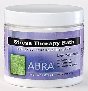 Abra Stress Therapy Sea Salt Bath, Lavender & Chamomile, 17 Ounce