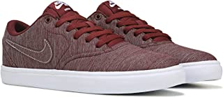 Men's SB Check Solar CNVS Skate Shoe (10, Dark Team Red/Dark Team Red-White)