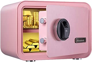 Biometric Fingerprint Safe Home Safe with Solid Steel Wall or Cabinet Anchoring Design for Home Office Hotel Jewelry Handg...