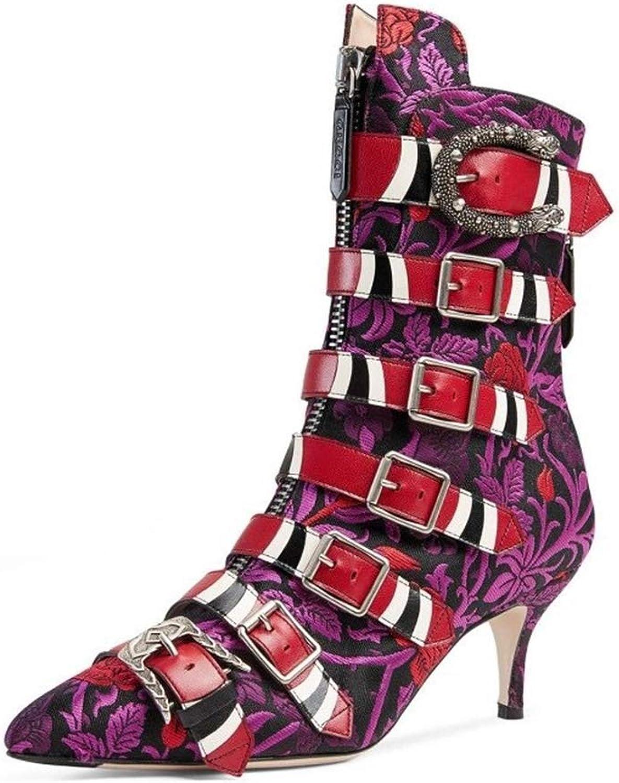 YAN damen es High Heels 2019 New Sexy Stiletto Schuhe Pointed Fashion Ladies Stiefel Novelty schuhe Wedding Party & Evening,D,42  | Verschiedene Arten und Stile