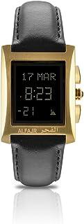 الفجر ساعة رسمية رجال، رقمي، جلد طبيعي، ذهبي، WL-08L