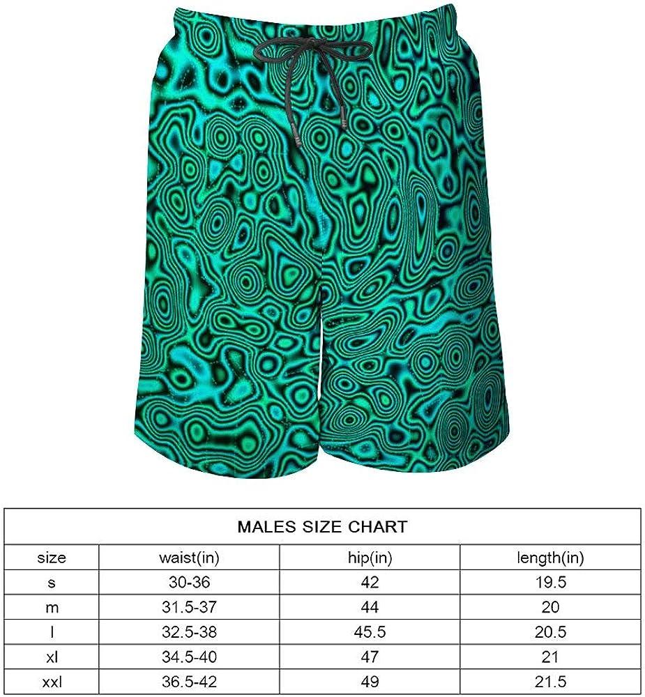 Men's Fashion Casual Swim Trunks Summer Beach Shorts with Mesh Lining